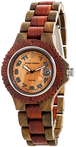 Tense Wood Mens Watch Two-Tone Date Time Hypoallergenic G4100GS ANLF