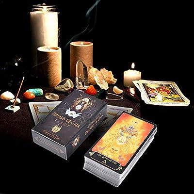 earlyad 81 Cartas del Tarot, Tarot Illuminati Kit, Cartas del Tarot Juegos De Mesa con Caja Colorida Incredible: Amazon.es: Hogar