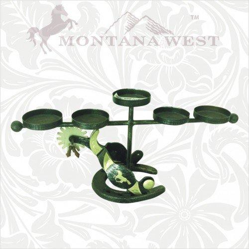 Montana West RSH-004 Western Spurs Five Candles Holder