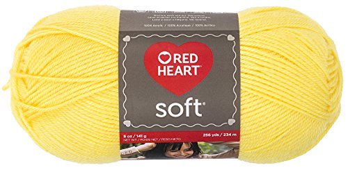 RED HEART Soft Yarn, Lemon - Yarn Heart Yellow Knitting