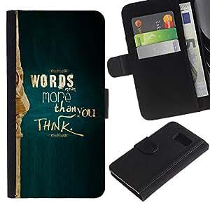 LECELL--Cuero de la tarjeta la carpeta del tirón Smartphone Slots Protección Holder For Samsung Galaxy S6 -- Más de lo que piensas --