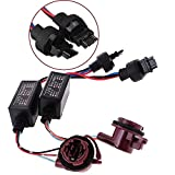 HonsCreat 2Pcs 3157-A LED Decoder Adapter Anti Hyper Blink Flash Error Cancel Canbus Brake Set