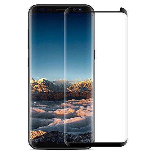 Samsung Galaxy S9 Full Edge Color Border Temper Glass Screen Protector (Black) + 32G Micro SD Card