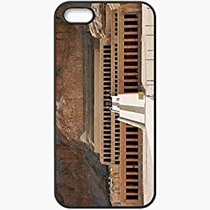 Back Cover For iPhone 5 5S Case Egypt Temple Sands Black Kimberly Kurzendoerfer