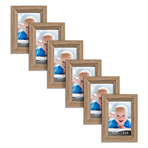 Icona Bay 4x6 Picture Frames 6 Pack , Picture Frame Set, for