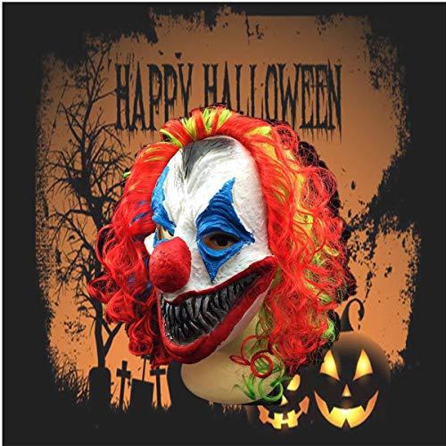 SGI New Halloween Mask Creepy Clown Head Adult Costume Party Fancy Prop Random Colo -