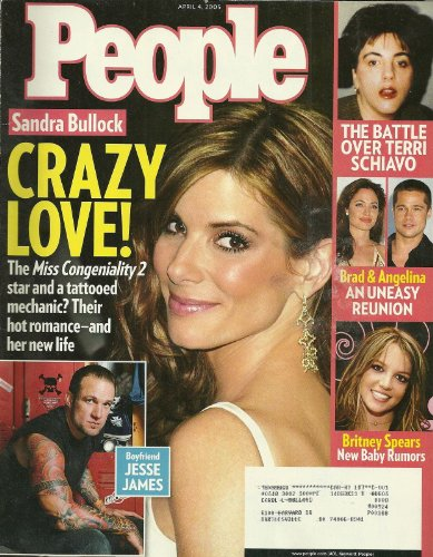 Sandra Bullock and Jesse James, Britney Spears, Brad Pitt and Angelina Jolie, Terri Schiavo - April 4, 2005 People Ammunition