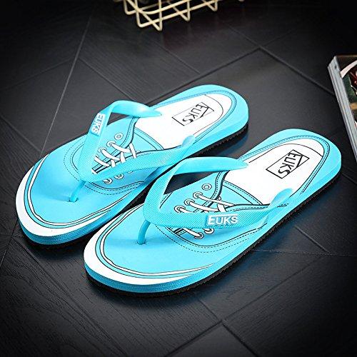 Xing Lin Sandalias De Hombre Flip-Flops Hombres Tendencia Sandalias De Playa Y Zapatillas Impermeables Verano Zapatillas De Baño Deslizante 43 Lago Azul