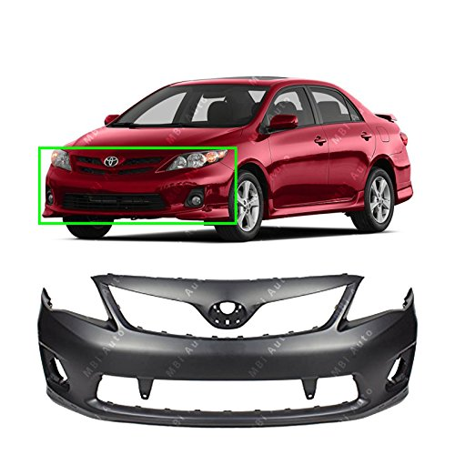 MBI AUTO – Primered, Front Bumper Cover Fascia for 2011-2013 Toyota Corolla S / XRS 11-13, TO1000373