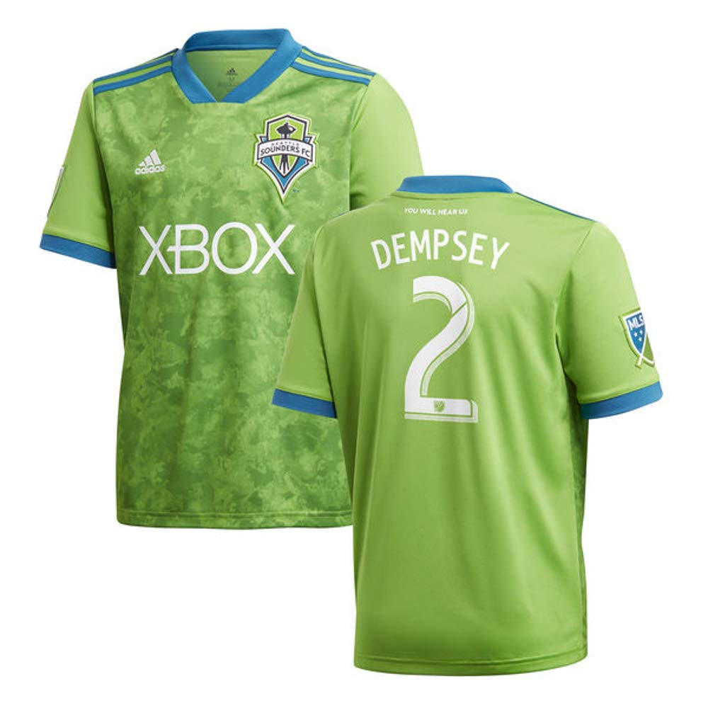 adidas Clint Dempsey Seattle Sounders FC 2018 Rave Green Replica Jersey