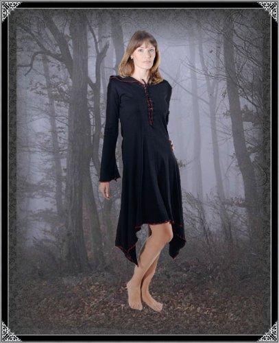 Kleid Ilva Rot Schwarz Damen Vampire Gothic Kurzes Bäres XwPzqIP
