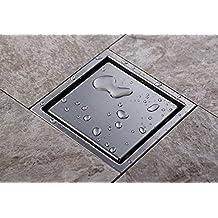 Rozinsanitary Modern Bathroom Shower Floor Drain Washer Waste Drain Modern Square Grate