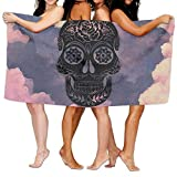 ONETAIWA Beach Towel A-Sugar-Skull 80'' X 130'' Soft Lightweight Absorbent for Bath Swimming Pool Yoga Pilates Picnic Blanket Towels