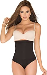 152270b8ac ShapEager Body Shaper High-Waisted Thong Design Faja Colombia Bodysuit