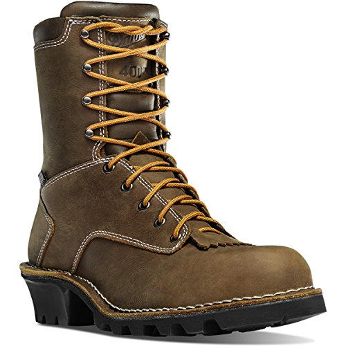 Danner Men's Logger 8'' Insulated 400G NMT Boots, Brown, 7.5 - Waterproof Insulated Logger Boot