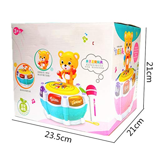 LIPENG-TOY Children's Music Bear Dance Drum Baby Puzzle Early Education Pat Drum Can Be Charged with Microphone Parent-Child Interactive Toys (Color : Pink) by LIPENG-TOY (Image #4)