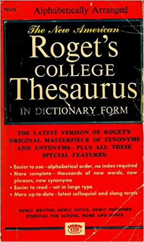 The New American Roget S College Thesaurus In Dictionary Lib