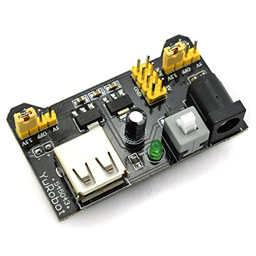 HJ Garden Electronic Component Power Supply Module Assorted Kit for Arduino, Raspberry Pi, STM32, UNO, MEGA2560 830P Breadboard + Power Module + Jumper + 12V 1A Adaptor by HJ Garden (Image #2)