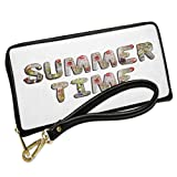 Wallet Clutch Summer Time Cold Ice Flowers with Removable Wristlet Strap Neonblond