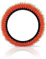 Oreck Commercial 237.047 Crimped Polypropylene Scrub Brush, 12-Inch Diameter, 0.028-Inch Bristle Diameter for 550MC Orbiter Floor Machine, Orange