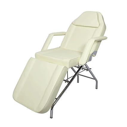Camilla de masaje / Camilla de estética 3 cuerpos / Camilla sillón de masaje / Camilla blanca con brazos y ajustable