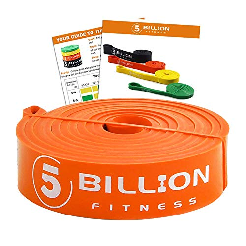 5 Billion Pull Up Bands, Exercise Resistance Bands - Mobility & Stretch Band - Powerlifting Bands, Perfect for Weight Lifting, Strength Training, Powerlifting - Single Unit, Orange
