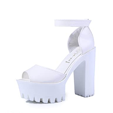 48a29ecec6a Franxois 2016 New style high heels women sandals open toe sandals female  thick heel platform summer shoes big size 9  Amazon.co.uk  Clothing