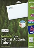 "2/3"" X 1 3/4"" Eco Friendly Return Address Labels"