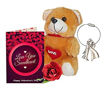 Sky Trends Valentine Gift For Husband Greeting Card Metal Keychain
