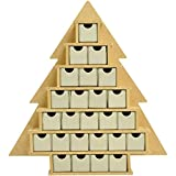 Kaisercraft SB2205 Beyond The Page MDF 16 by 2 by 15.25-Inch Tree Advent Calendar with Drawers, Small