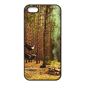 Qxhu Live Wild Forest Protective Snap On Hard Plastic Case for Iphone5,5S