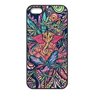 Funny Trippy Elephant Protective Rubber Back Fits Cover Case for iphone 5c