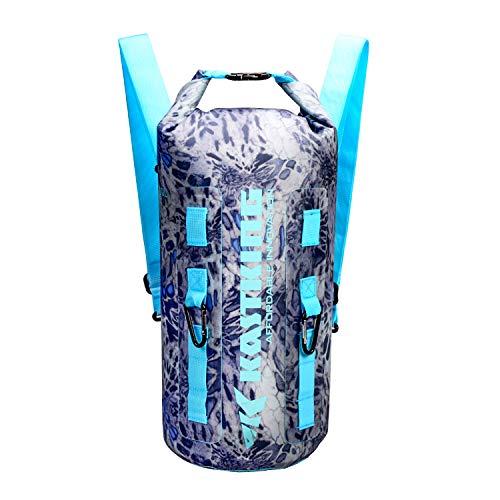 KastKing Downpour Floating Waterproof Dry Bags, Silver Mist Backpack, 30L
