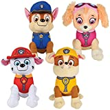"Paw Patrol Plush Pup Pal 4 Pcs Character Plush Set Marshall Chase Rubble Skye 8"" Plush Doll"