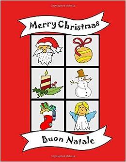Buon Natale Merry Christmas Libro Da Colorare Bilingue Inglese