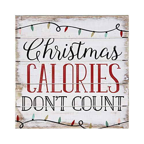 Sincere Surroundings PET1270 Christmas Calories 6 x 6, White