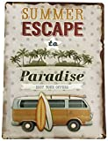 Creative Motion 22107-3 Summer Escape to Paradise Metal Sign