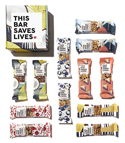 Gluten Free Granola Breakfast Bar, 12 bar Variety Pack by This Bar Saves Lives, 1.4 oz For Sale