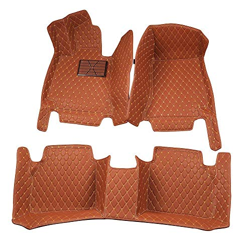 Bonus-Mats Custom Fit Luxury XPE Leather All-Weather Full Surrounded Waterproof Car Floor Mats Floor Liners for BMW 535 Gran Turismo 535GT 550 Gran Turismo 550GT 2010-2013 Brown