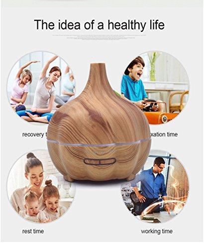 YNXing Mini Pumpkin Air Humidifier Mini Household 300ml Ultra-quiet Wood Grain Aromatherapy Machine (Light wood grain) by YNXing (Image #7)