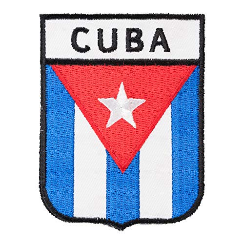 Cuba Country Flag Shield Patch, Latin America Flag Patches