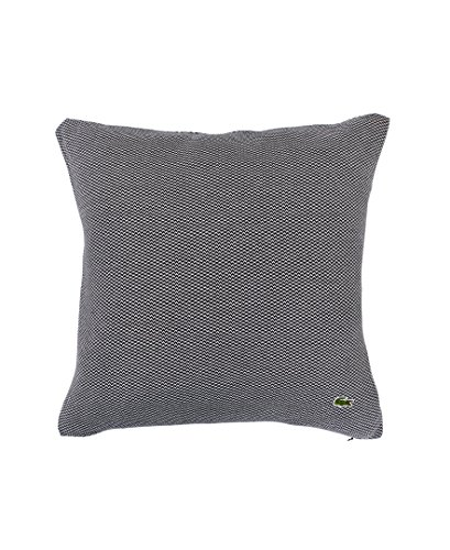 Lacoste Knit Pique Throw Pillow, Dark Gray