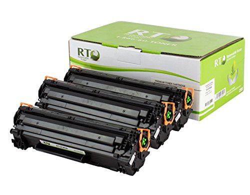Renewable Toner 83A Compatible Toner Cartridge Replacement HP CF283A | HP 83A for HP M201 M125 LaserJet Printer Series (Black, 3-Pack)