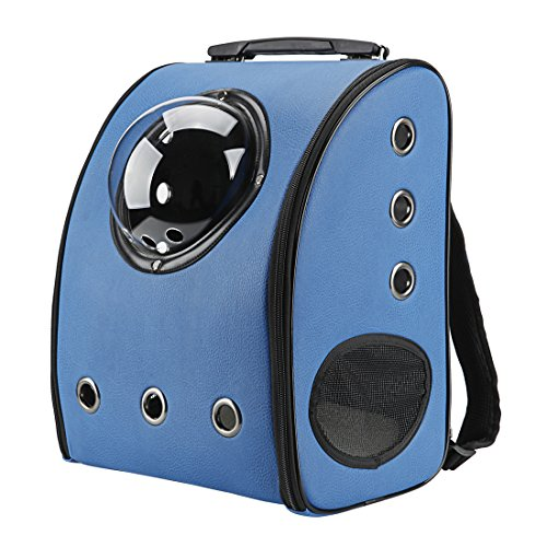 Texsens Innovative Traveler Bubble Backpack Pet Carriers for Cats and Dogs (Blue) by Texsens