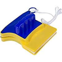 Square Shape Double-Side Magnetic Glass Cleaner Wiper with 2 Extra Cleaning Cotton for Window Squeegee Washing Kit…