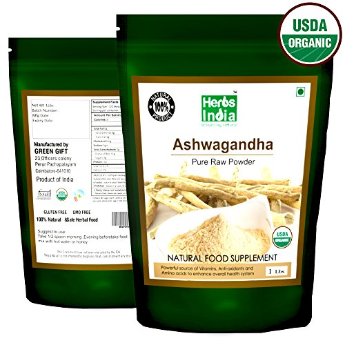 Organic Ashwagandha Root Powder 16 Ounces(1 Pound) Resealable Bag - USDA Certified Organic, Premium Quality - HerbsIndia (Best Public Speakers In History)