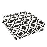Mozaic AMCS108390 Square Pillow, Sunbrella-Savvy Onyx
