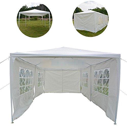 10' Nail Pegs (10' x 20' White Party Tent Heavy Duty Gazebo Wedding Canopy w/6 Side Walls)