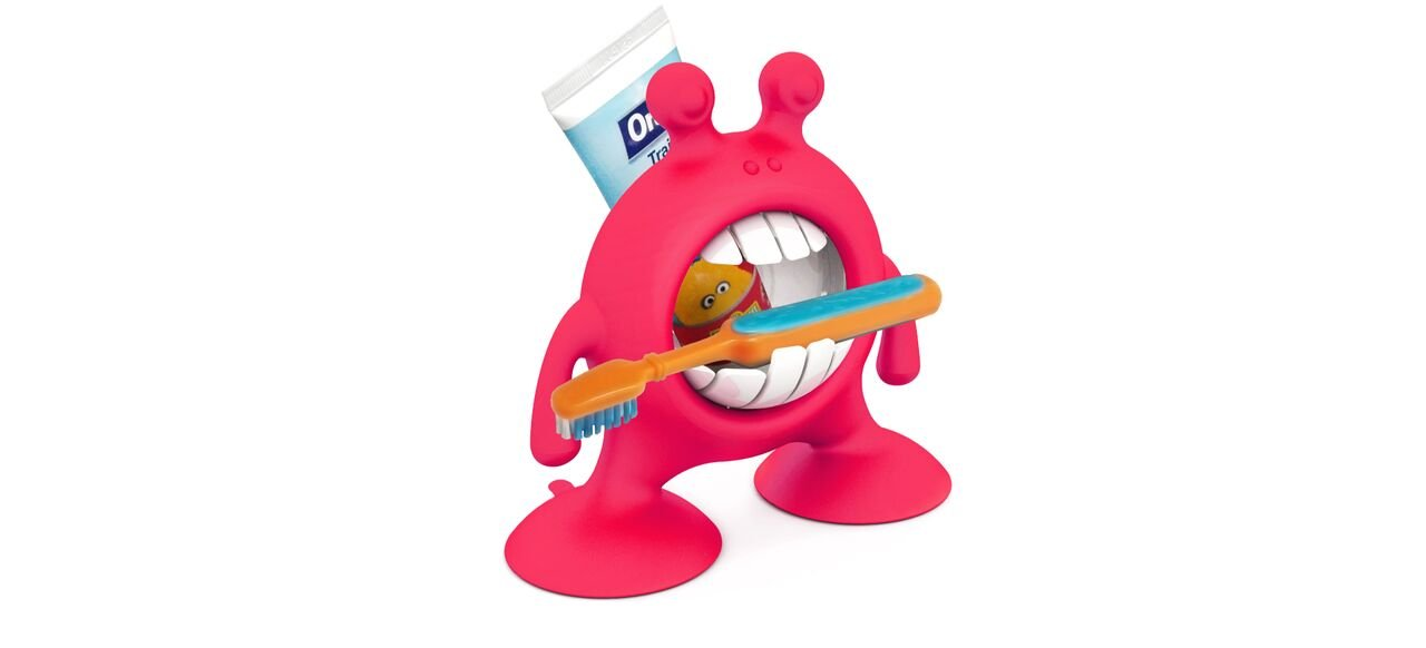 Eye Smile Fun Toothbrush and Toothpaste Storage, Flashbulb Fuchsia Prince Lionheart (UK) Limited 7375