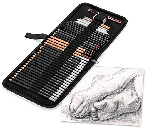 Maad Art Supply 40 Piece Professional Drawing and Sketching